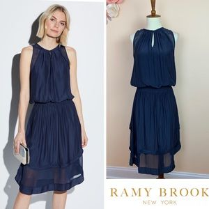 New! RAMY BROOK Quin High-Neck Sleeveless Dress